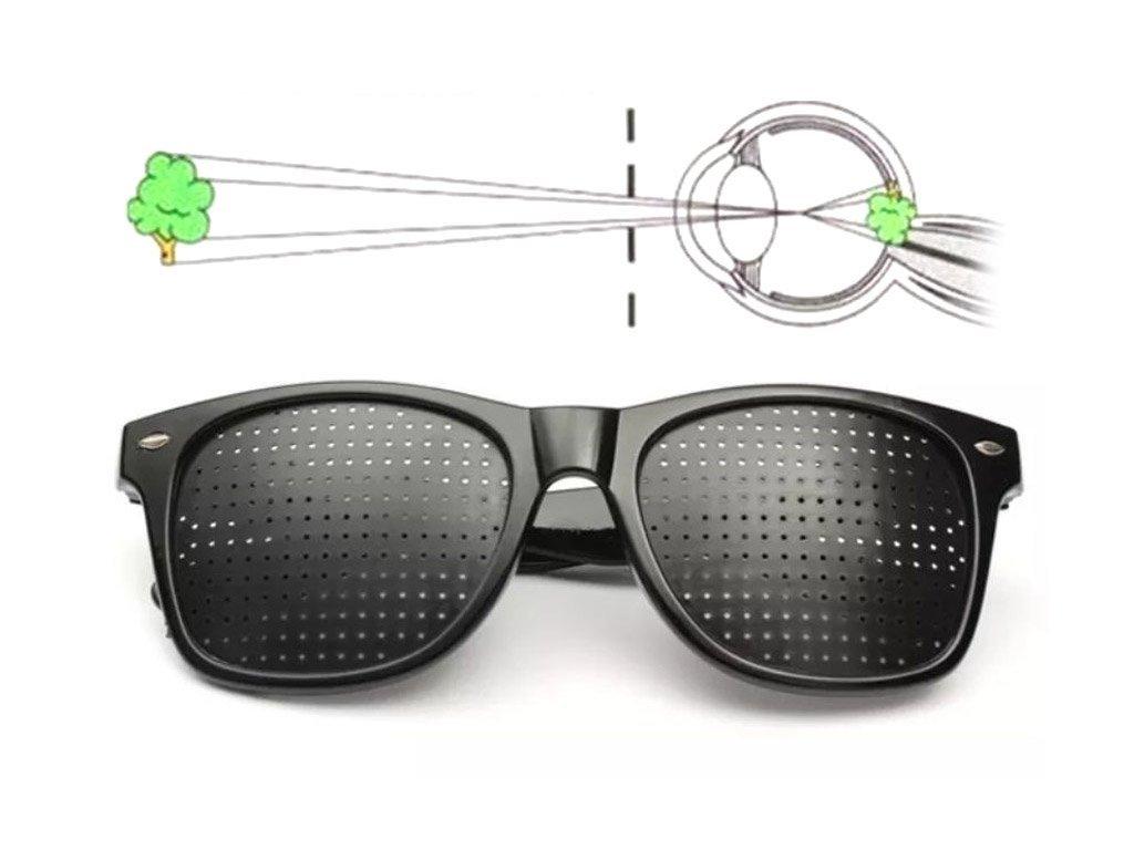 Správne vykresľovanie pozorovaného obrazu vďaka dierkovaným okuliarom EyeHealth