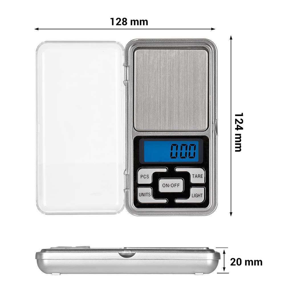 Digitálna vrecková mini-váha 200g (presnosť 0,01g) 7