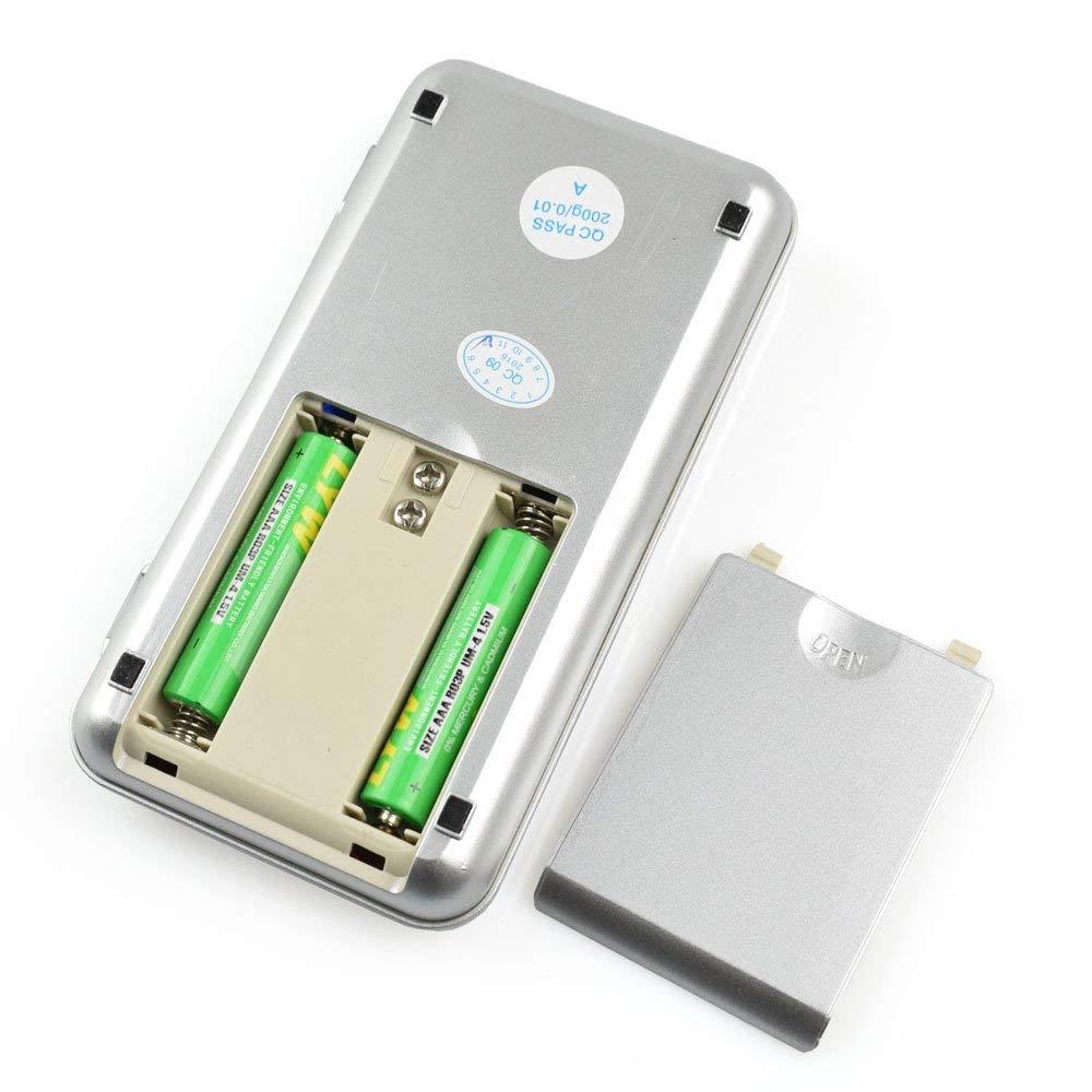 Digitálna vrecková mini-váha 200g (presnosť 0,01g) 8