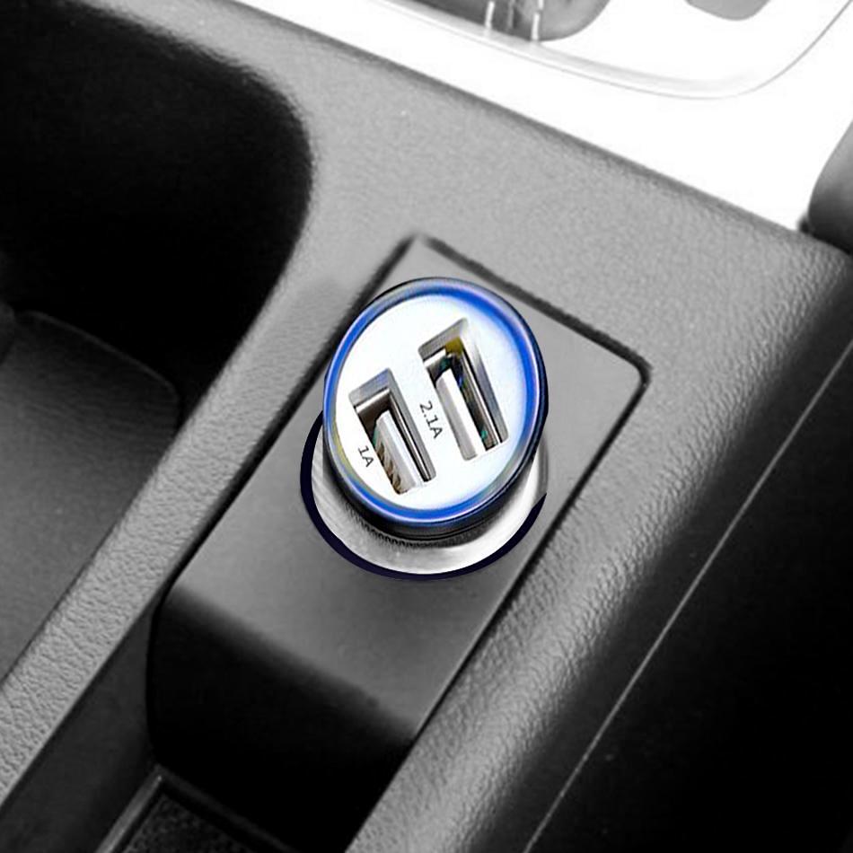 LED podsvietená Nabíjačka do auta 2 x USB univerzálna [1+1 ZDARMA] 1